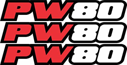 PW80 Swingarm Airbox Decal Stickers PW 80 Dirtbike ATV Quad Racing Graphics Red