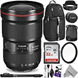 Canon EF 16-35mm f/2.8L III USM Lens w/Advanced Photo and Travel Bundle - Includes: Altura Photo Sling Backpack, Monopod, UV Protector, Camera Cleaning Set
