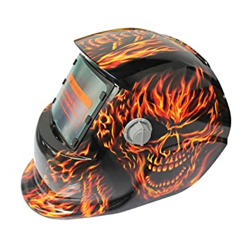 Hanbaili Casco de soldadura, cráneo de ojo grande Casco de oscilación automática de casco de