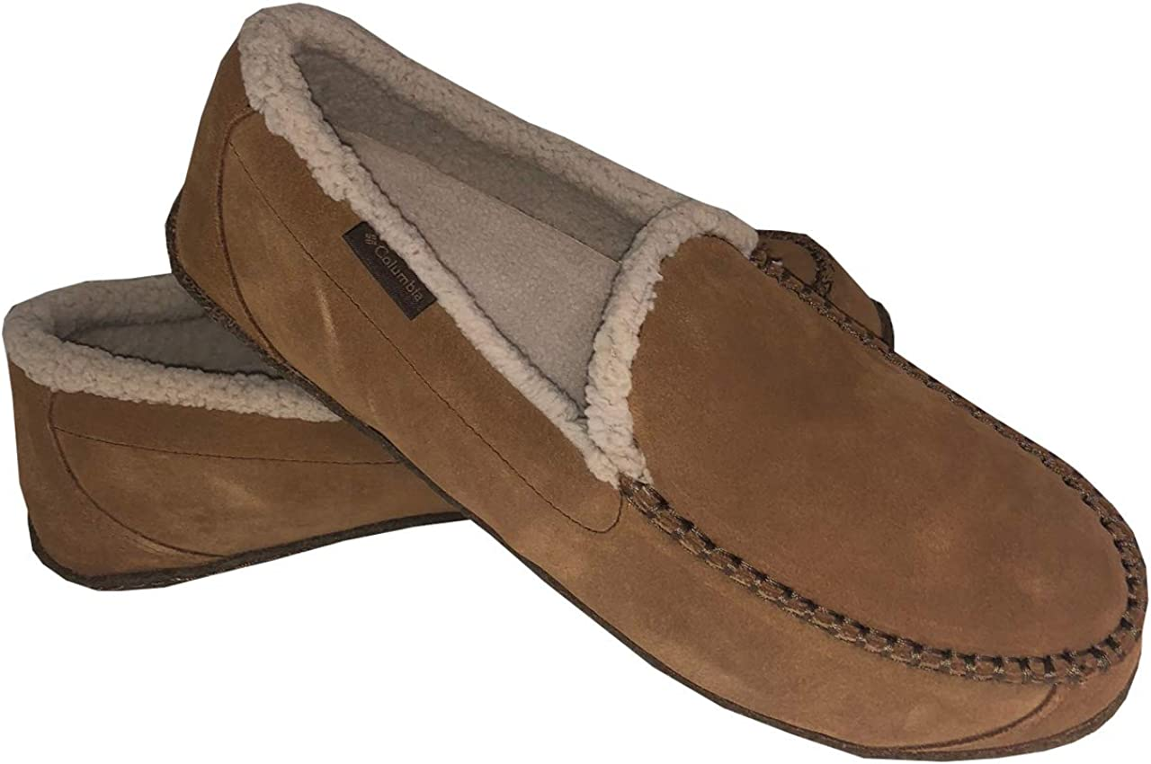 Columbia Mens Big Sky Moc Faux Fur Slippers Boat Shoes