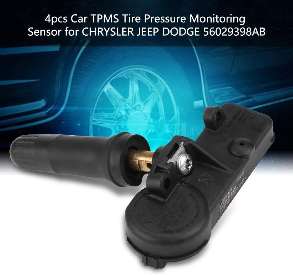 Tire Pressure Monitor System TPMS 56029398AB 4Pcs Car Vehicle Monitoring Sensor for Chrysler Dodge Ram Journey Fiat 500 Jeep Grand Wrangler
