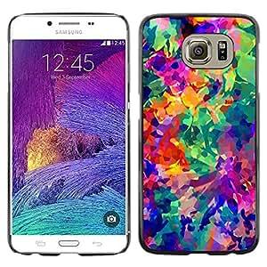 iKiki Tech / Estuche rígido - Vibrant Colors Abstract 3D - Samsung Galaxy S6 SM-G920