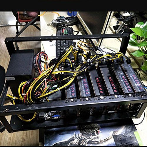 Open Air Miner Mining Frame Rig Case Up to 6 GPU BTC LTC ETH Ethereum Steel Coin-Ebanku