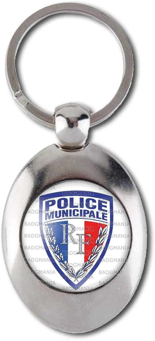 Accessoires Badgmania Porte Cles Metal 2 Faces Ecusson Police Municipale Bagages Hotelaomori Co Jp