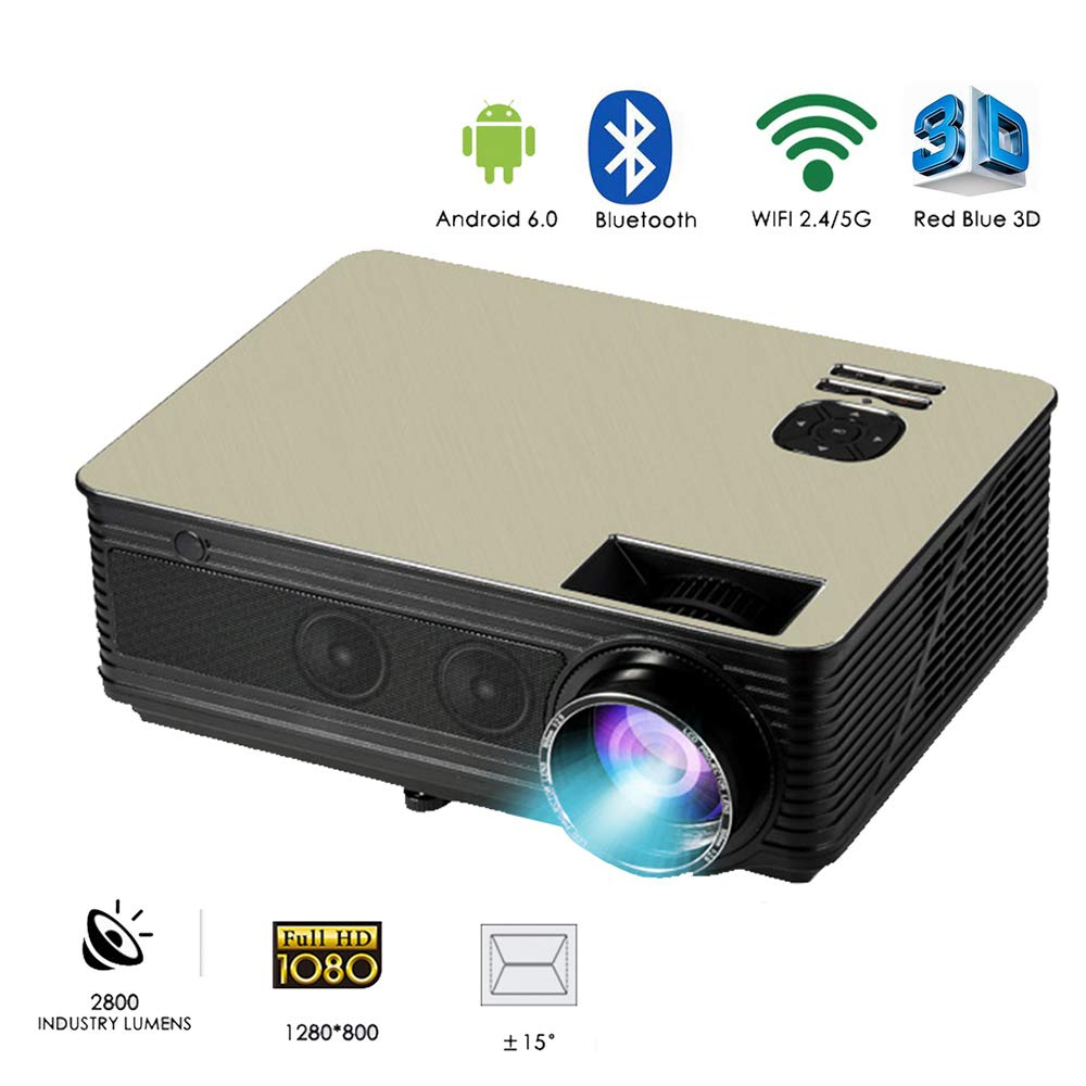 Link Co Proyector casero 1080p Inalámbrico WiFi Inteligente ...