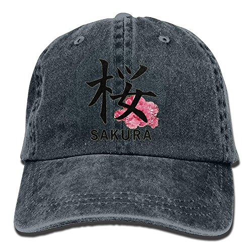 JTRVW Cowboy Hats, OPS Japanese Sakura Kanji Adult Sport Adjustable Baseball Cap Cowboy Hat
