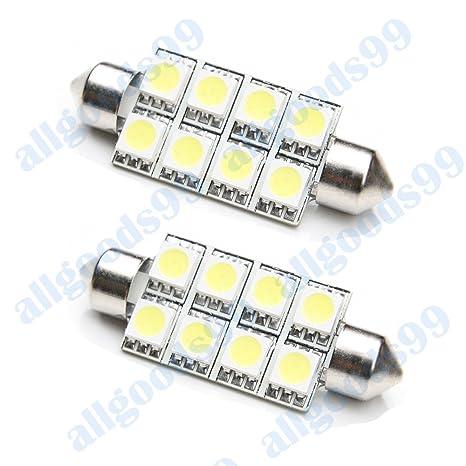 2 x Bombillas LED para el interior Mercedes Vito bus-van 638 8 x SMD