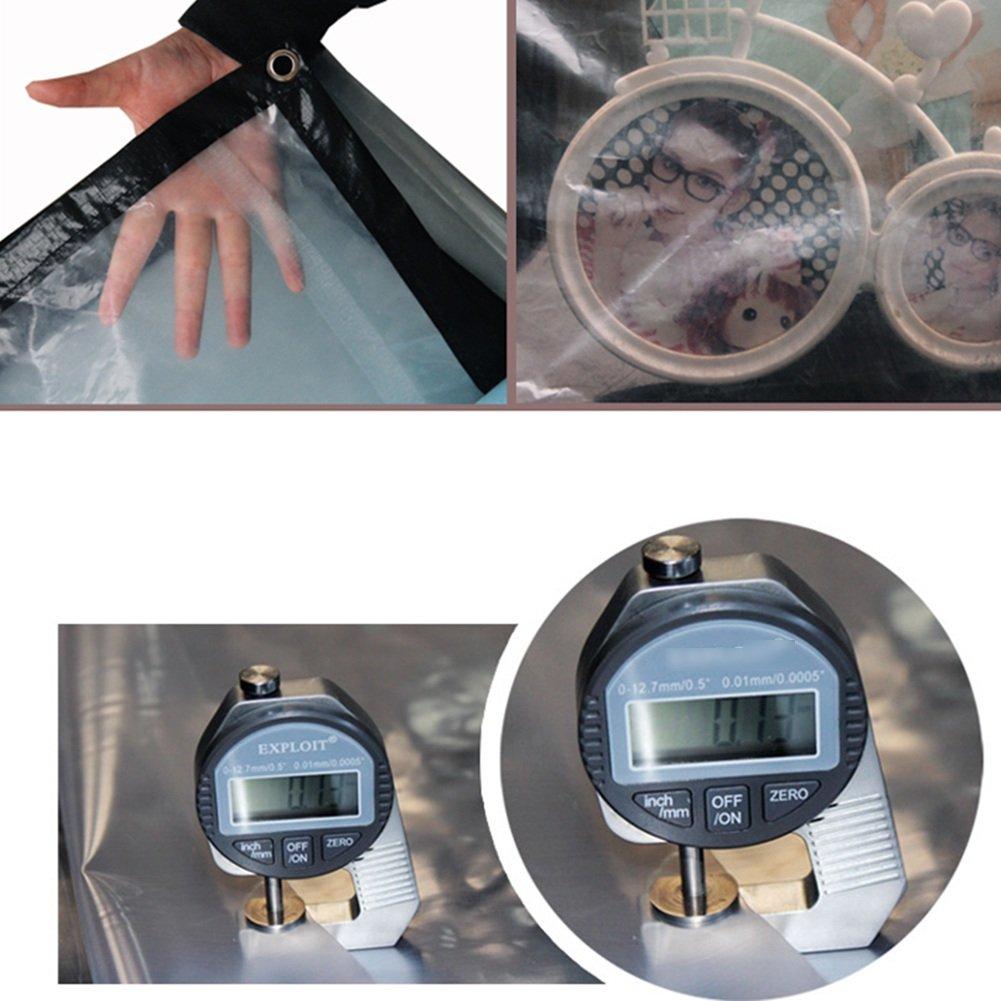 LQQGXL Engrosada PE a Prueba de Agua Transparente a Prueba de Agua Pantalla Solar Transparente Agua Tela Transparente balcón Protector Solar Anti-envejecimiento Lonas Impermeables (Color : Gris, Tamaño : 2X5M) 1b5c89