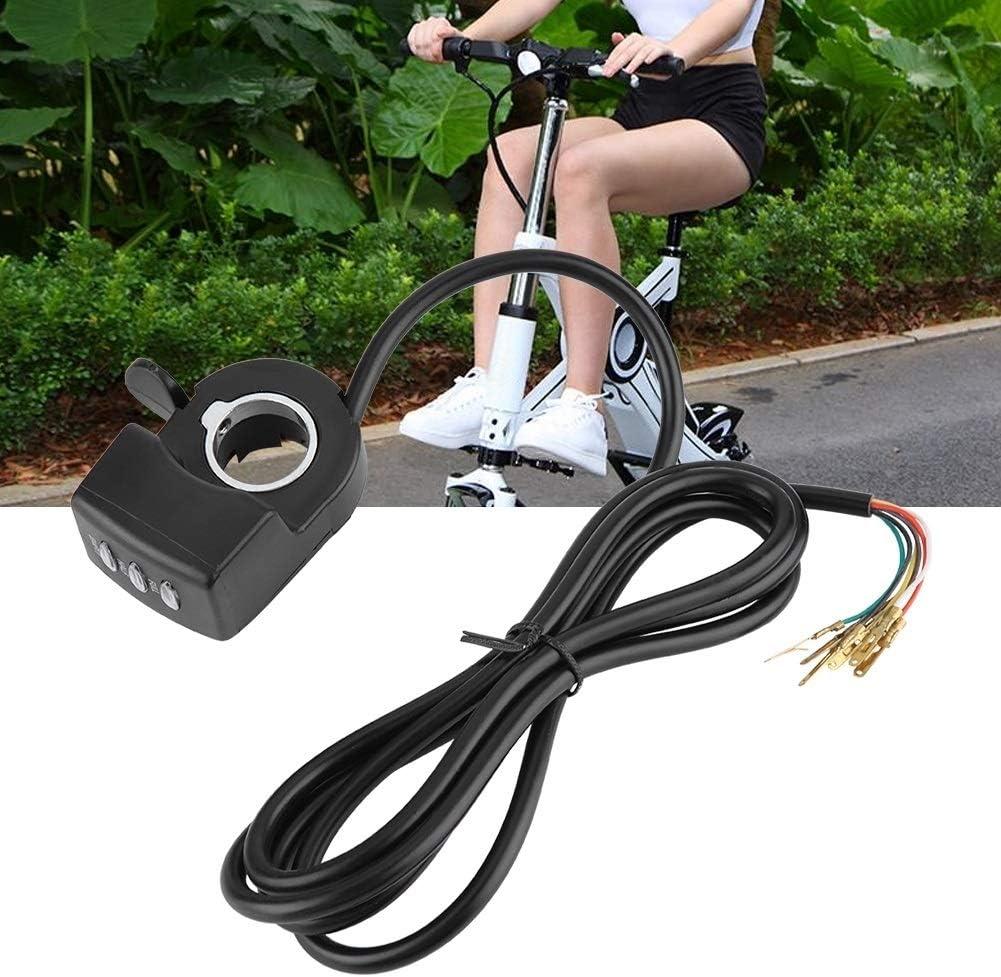for un E-Bici Bicicleta El/éctrica de 24V 36V 48V 1PC Control de Velocidad del Acelerador Asamblea Pulgar Twist