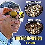 Baonmy HD Night Vision Glasses Wraparounds Wrap Around Glasses for Men&Women