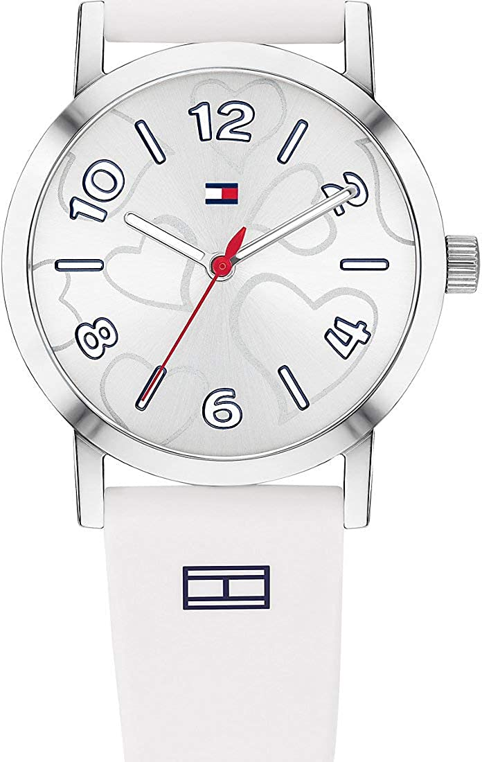 Tommy Hilfiger - Reloj de Pulsera analógico para Mujer, Cuarzo, Talla única, Color Blanco