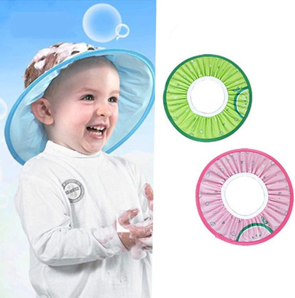 Supvox 2Pcs Visi/ère bain b/éb/é douche casquette anti shampoing enfant bonnet bain douche protection yeux