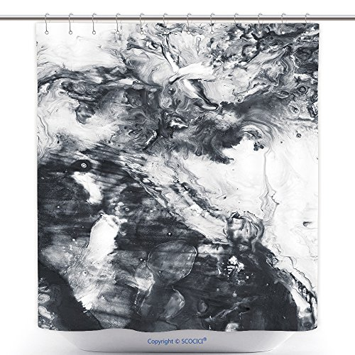 [Polyester Shower Curtains Abstract Hand Painted Black And White Background Acrylic Painting On Canvas Wallpaper Texture 548641843 Polyester Bathroom Shower Curtain Set With Hooks] (Sunset Traditional Hand Shower)