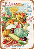 Wall-Color 9 x 12 METAL SIGN - 1898 C.E. Allen's Plants Seeds - Vintage Look Reproduction
