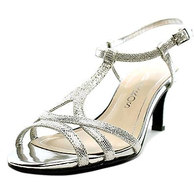 Caparros Women s Bonita Silver Lizard Sandal 6.5 B ... 63e152ec7