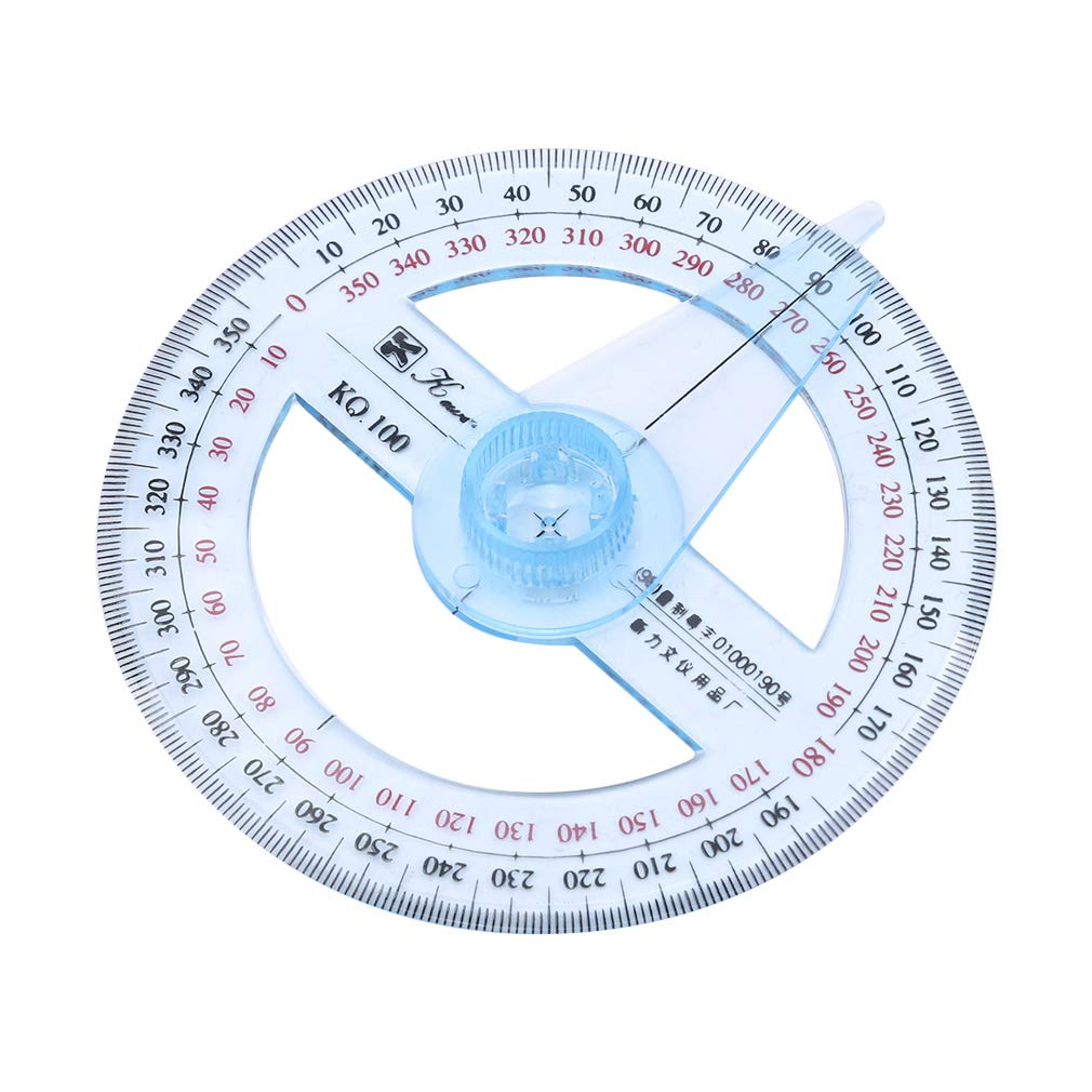 TraveT Plastic 360 Degree Protractor Ruler Angle Finder Swing Arm School Office Angle Ruler Regard