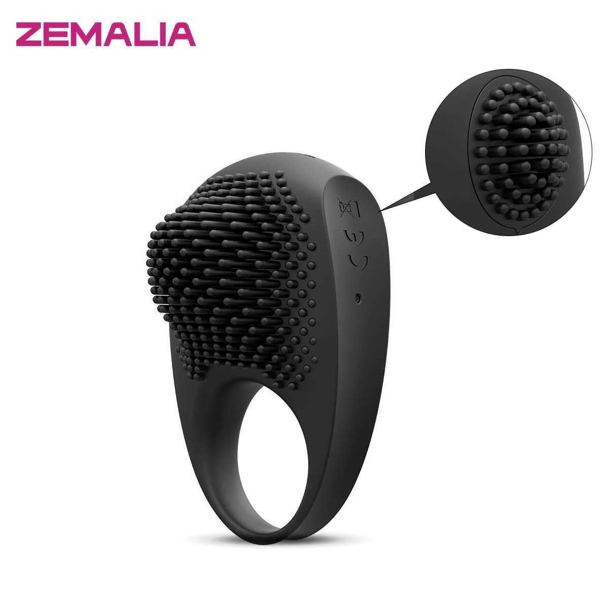 ZEMALIA Cock Penis Rings Adult Sex Toys for Male or Couples Waterproof Rechargeable Toy Vibrators Masturbation