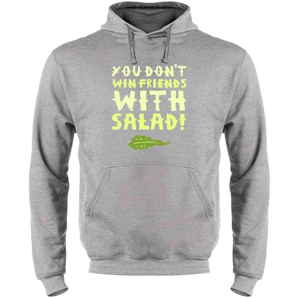 Pop Threads You Dont Win Friends with Salad Mens Fleece Hoodie Sweatshirt
