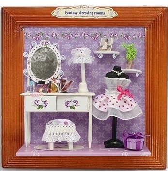 3D Miniaturen Set U0026quot;Fantasy Dressing Roomu0026quot; Als 3D Wandbild  (Bastelset) Im