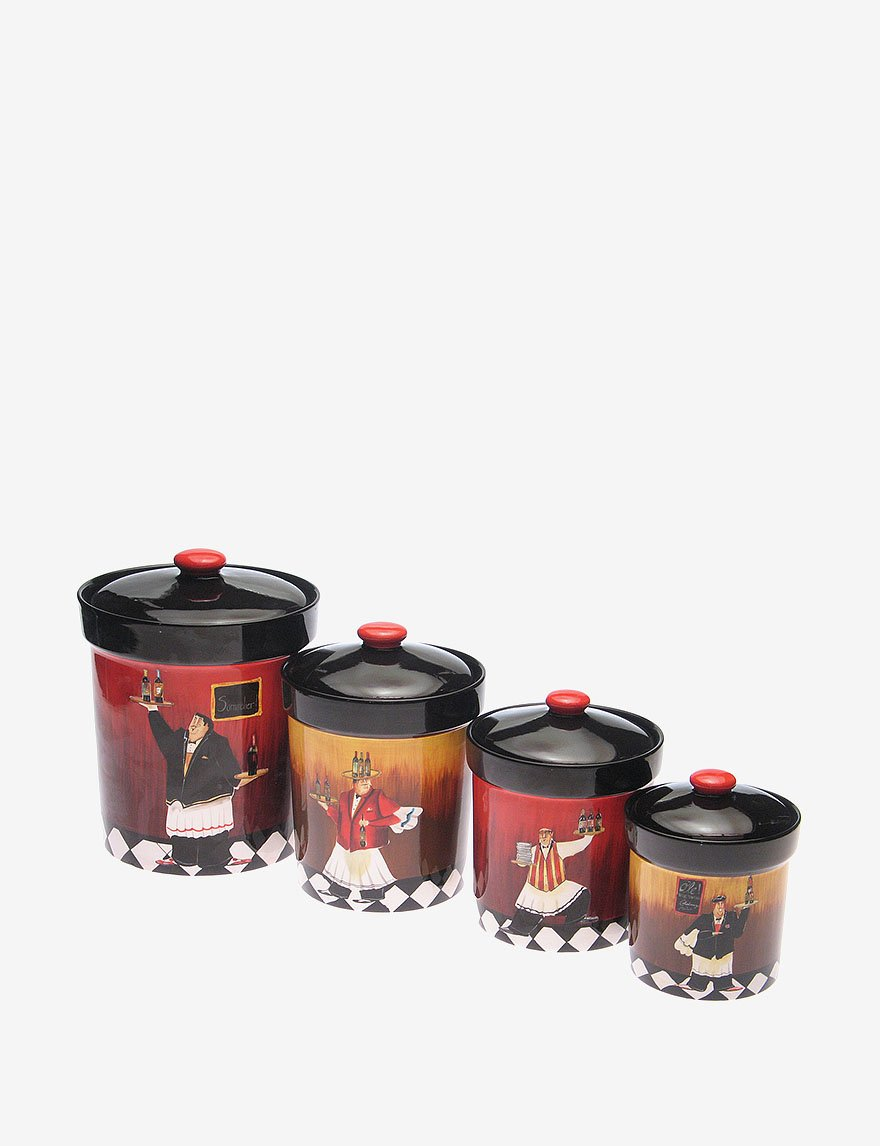 amazon com certified international bistro 4 piece canister set