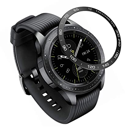 YSSNH Bezel Ring for Samsung Galaxy Watch 42mm/Samsung Gear Sport, Stainless Steel Decorative Rotating Watch Dial Protection Ring Compatible Galaxy ...