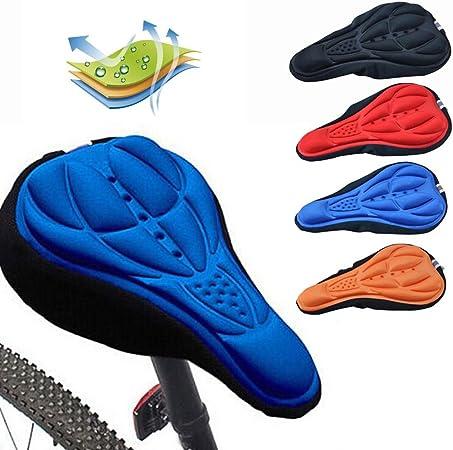 accesorios de bicicleta Betteros c/ómoda y suave Funda de gel para asiento de bicicleta negro funda de asiento de bicicleta de monta/ña extra gruesa