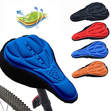 PENVEAT Funda de gel para sillín de bicicleta, accesorios para ...