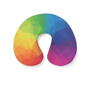 Amazon.com: Arco Iris con formas geométricas almohada ...