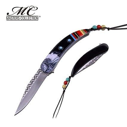 Cuchillo de bolsillo plegable tribal indio de América Sioux ...