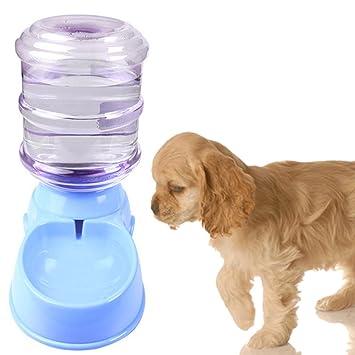Dr Nezix 3.5L Grande Comederos Bebederos Platos Automático para Perros Mascota Cachorro Gato Dispensador Agua Dispensador Alimentador, Azul: Amazon.es: ...