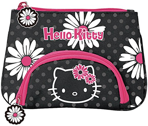Sanrio Hello Kitty Pink and Black Daisy Collection Pouch ...