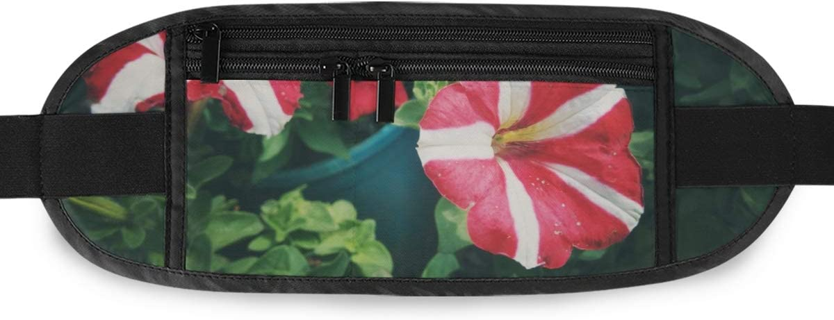 Travel Waist Pack,travel Pocket With Adjustable Belt Petunia Colourful Flowers Natural Petunia Running Lumbar Pack For Travel Outdoor Sports Walkin