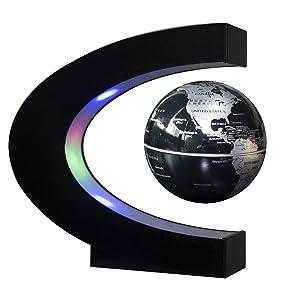 ConPush C-forma LED Globo Flotante Levitación magnética Terráqueos Globo Mapa...