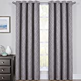 Cheap Hilton Gray Curtains, Top Grommet Blackout, Thermal Insulated Window Curtain Panels, Pair / Set of 2 Panels, 54Wx63L inches Each, by Royal Bedding
