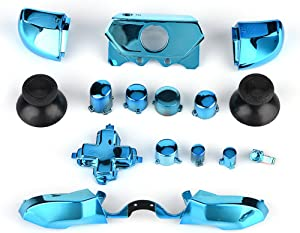 Zerone Full Button Set for Xbox One, Thumbsticks ABXY Buttons Dpad Triggers Full Buttons Set Mod Kits for Xbox One Controller(Blue)