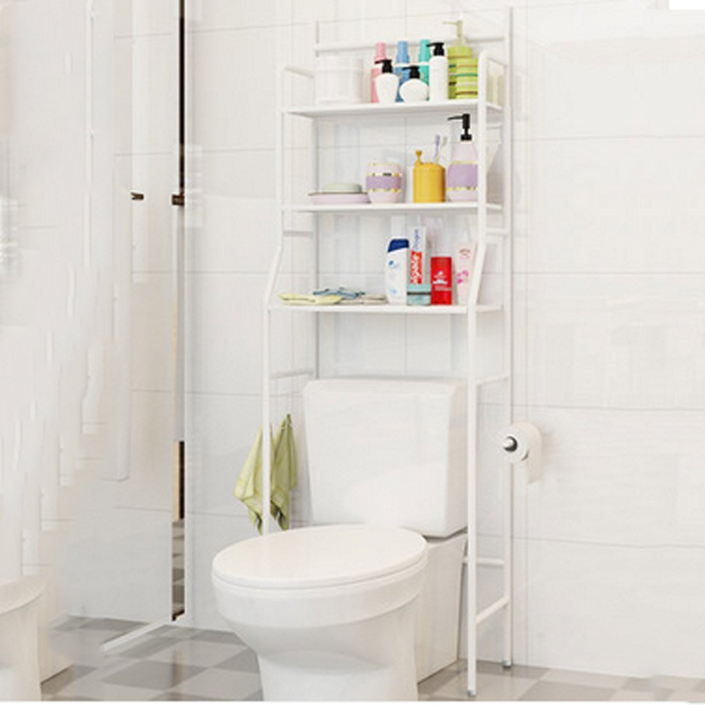 DIDIDD Shelf-Bathroom Shelf Wall Hanging Floor Toilets Free Punch Washing Machine Washbasin Rack,White
