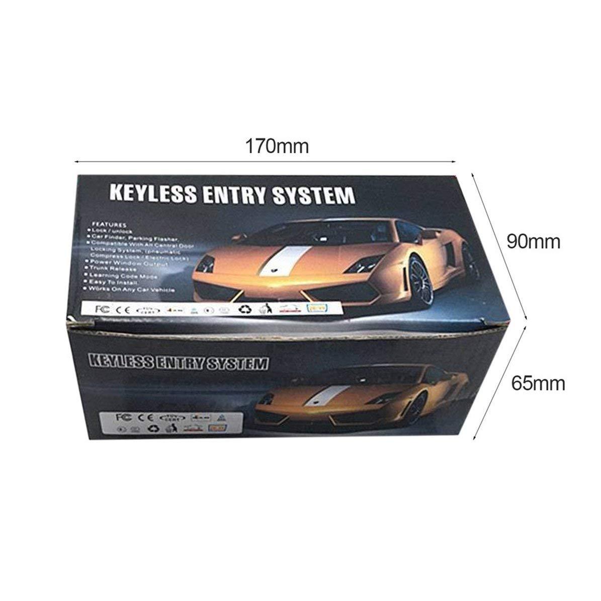 Corneliaa-ES Sistema de Entrada Universal sin Llave Dispositivo de Sistemas de Alarma de Auto Control Remoto