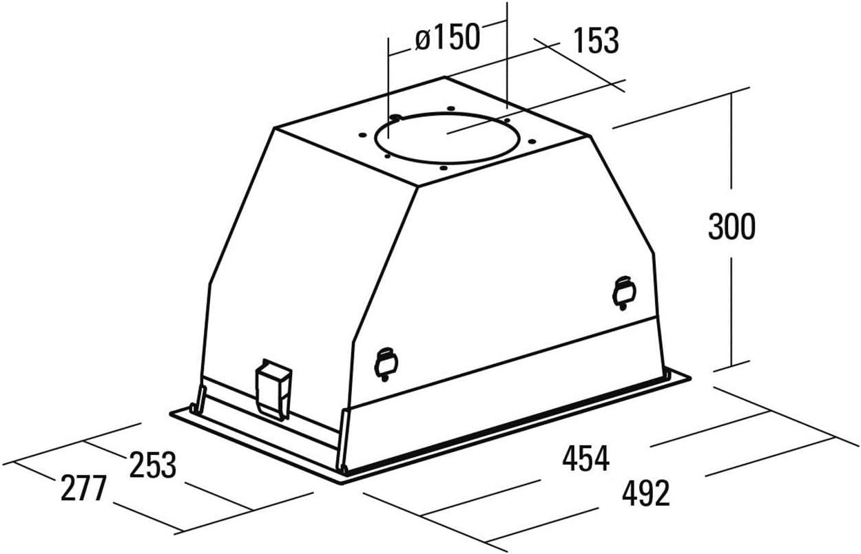 CATA | campana extractora | Modelo GC DUAL A WH 75 | 4 velocidades de extracción | campana extractora cocina 820m3/h - 340m3/h | Acabado en cristal blanco: 286.35: Amazon.es: Grandes electrodomésticos