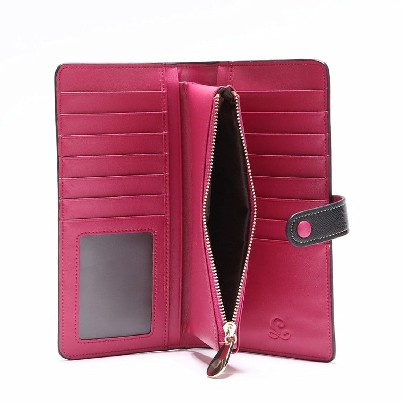 Lady long purse/Cross Velcro zipper wallets leather fashion/Card hand bag