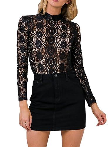 Simplee Apparel - Camiseta de manga larga - para mujer