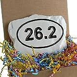 Marathon 26.2 Miles Runner Rock w/Gift Box