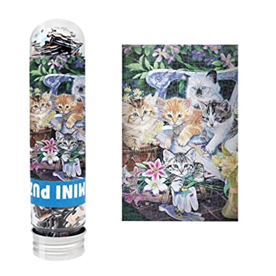 Ccmall Micro Flower Cat Jigsaw Puzzles 150 Pieces for Adults Kids,DIY Mini Animal Oil Painting Difficult Puzzles Landscape Scenery Family Friend Game Wall Decoration Painting: Home & Kitchen