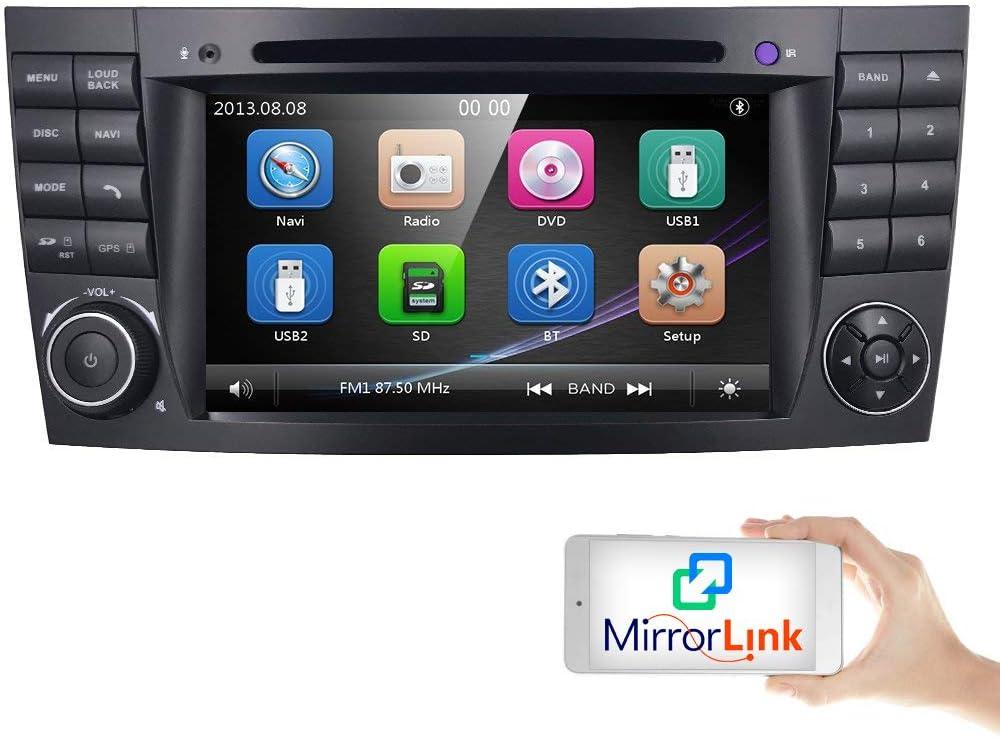 Pantalla táctil de 7 Pulgadas para Coche, GPS, DVD, USB, SD, Bluetooth, Autoradio 2 DIN NAVI para Mercedes-Benz W211 W219 W463 W209: Amazon.es: Electrónica