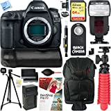 Canon EOS 5D Mark IV 30.4 MP DSLR Camera (Body Only) with BG-E20 Battery Grip Accessory Bundle