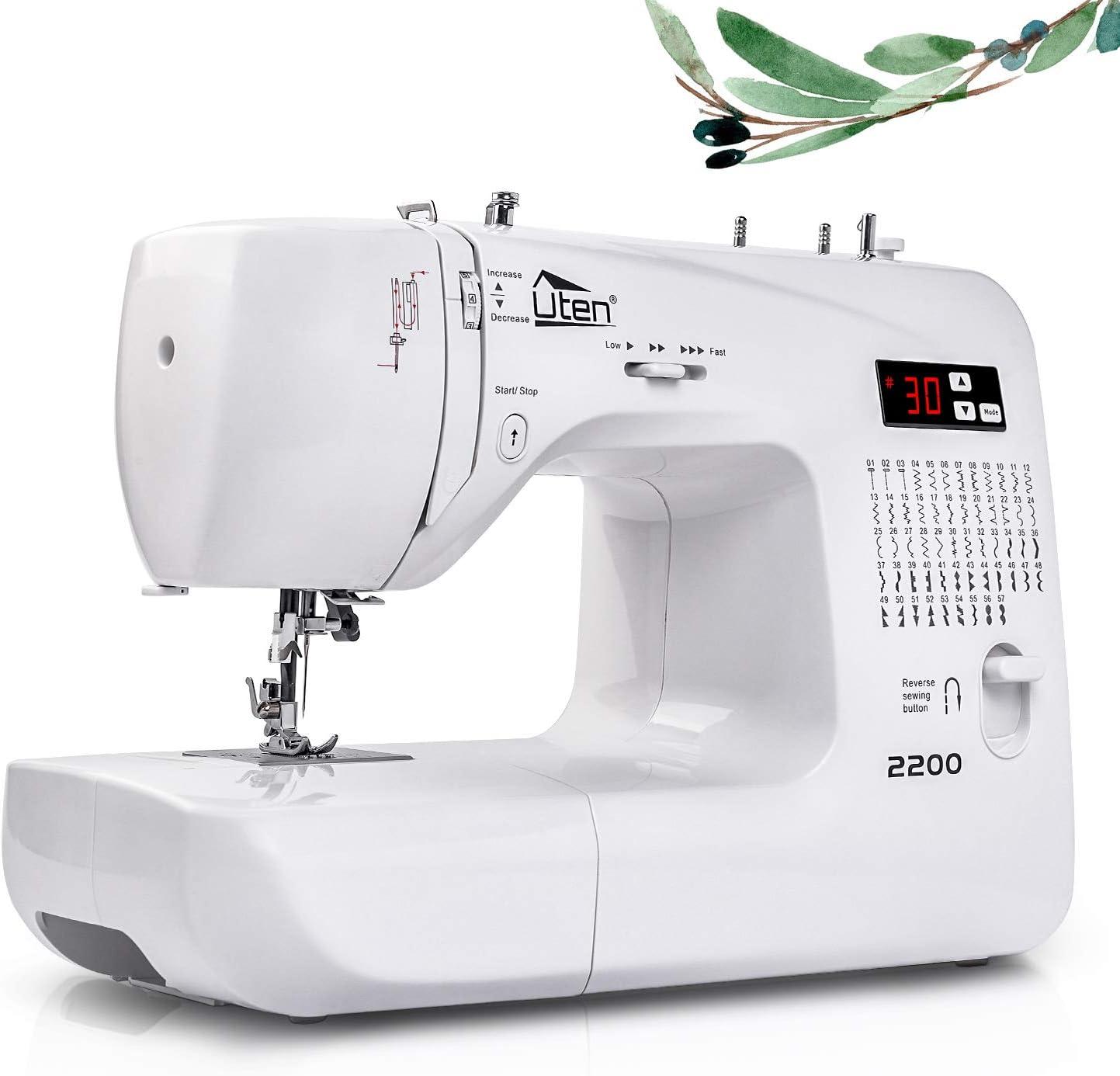 Máquina de Coser Portatil Electrica 60 Puntadas maquina coser manual con Luz de LED
