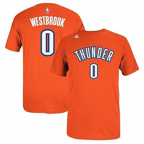 adidas Russell Westbrook Oklahoma City Thunder NBA Naranja Nombre ...