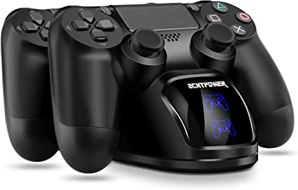 ECHTPower Cargador Mando PS4, Estación de Carga USB, Protección ...