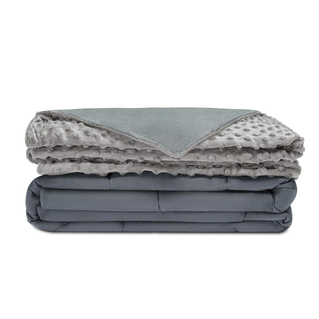 "Quility Premium Kids Weighted Blanket & Removable Cover | 07 lbs | 41""x60"" 