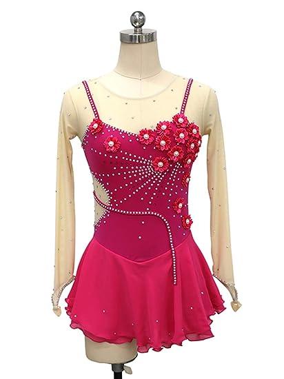 Heart&M Vestido de Patinaje artístico para niñas, Traje de ...