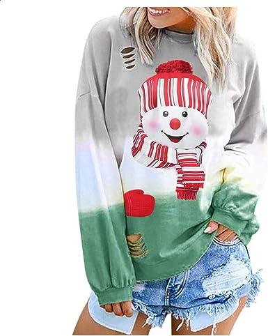 Hengshikeji Womens Color Block Long Sleeve T Shirts Casual Loose O-Neck Pullover Blouse Tunic Tops Shirt